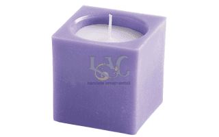 purple square pot candle