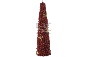 red tree candle