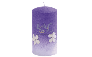rustic purple candle