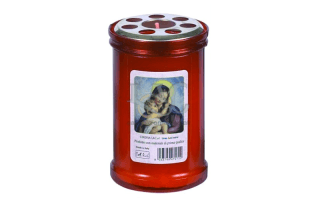red madonna candle