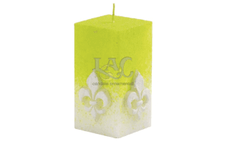 light green square candle
