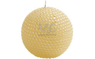 ivory ball candle