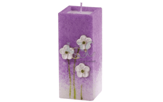 lilac flowers candle