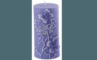 candela violetto rilievo