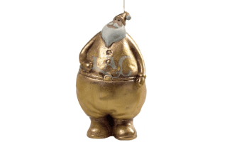 gold santa claus candle