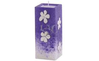 decorated flowers candle