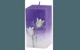square decorative candle