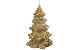 golden tree candle