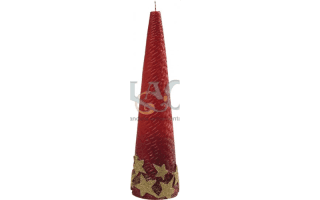 red tapered candle