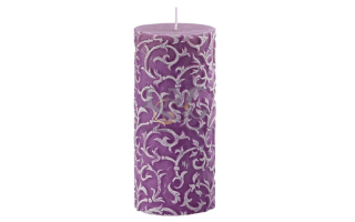 purple relief candle