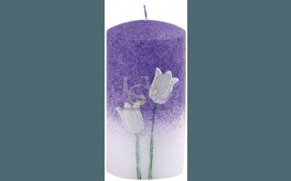 candela fiori viola