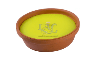 citronella candle earthenware