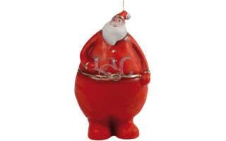 red santa claus candle
