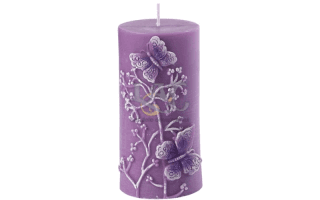 candela viola rilievo