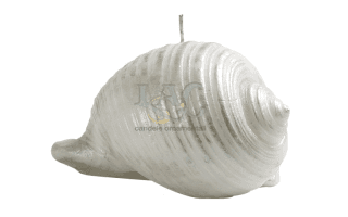 closed seashell candle