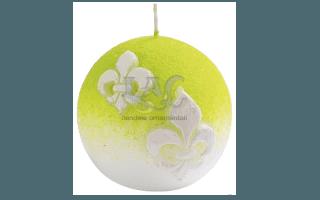 light green ball candle
