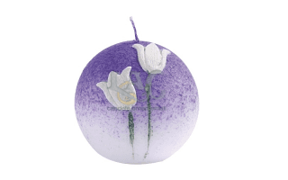 violet ball candle