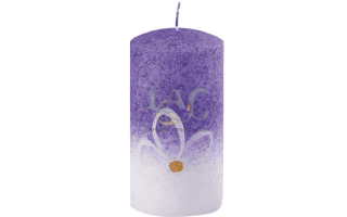 decorated purple candle