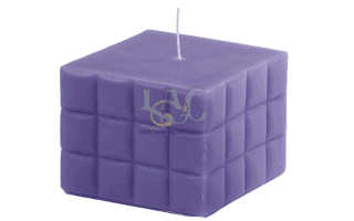 square violet candle