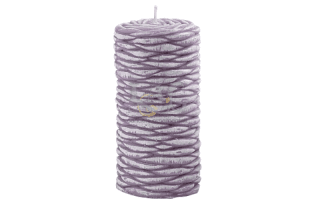 lilac strawed effect candle