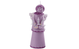 purple angel candle