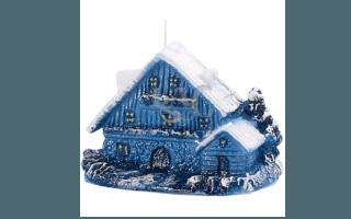 sky-blue house candle