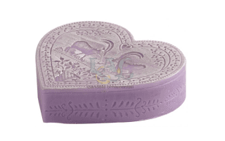 violet heart candle