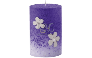 purple ellipsis candle