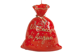 red bag candle