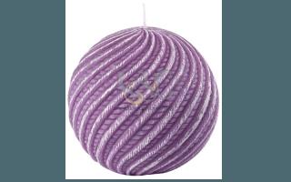 purple ball candle