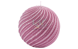 pink ball candle