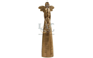 gold angel candle