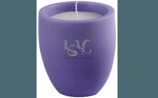 purple pot candle