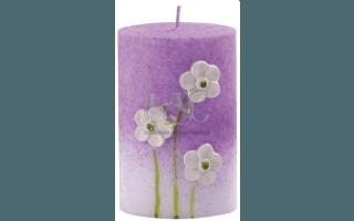 light purple ellipsis candle