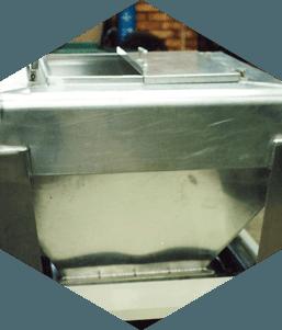 Bulk powder container in Aluminium