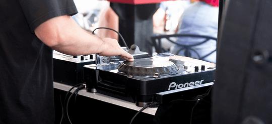 a DJ mixer