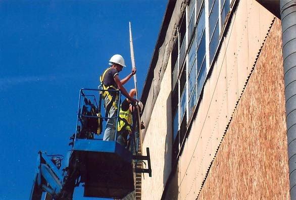 glazier at work
