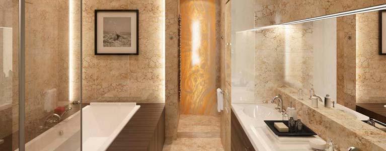 marble featured bathroom