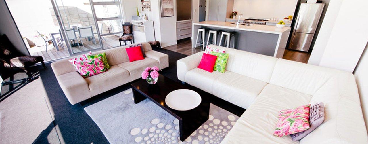 big sofa in living room