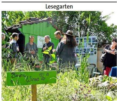 Eröffnung Lesegarten (Bild Ders Sonntag)