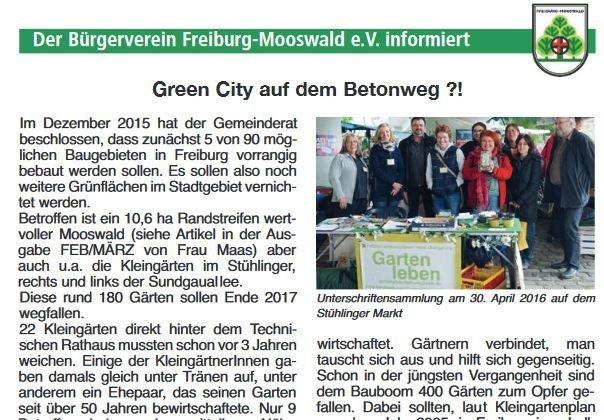 Green City auf dem Betonweg?!