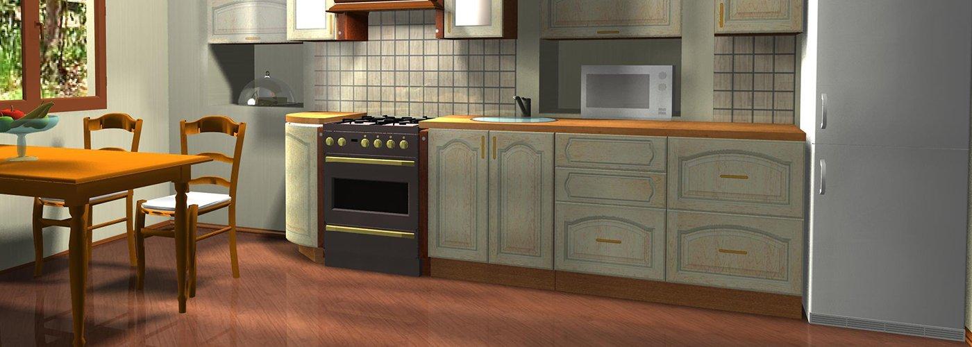 immagine di una cucina in legno bianco