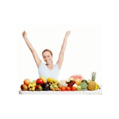 donna con frutta mista