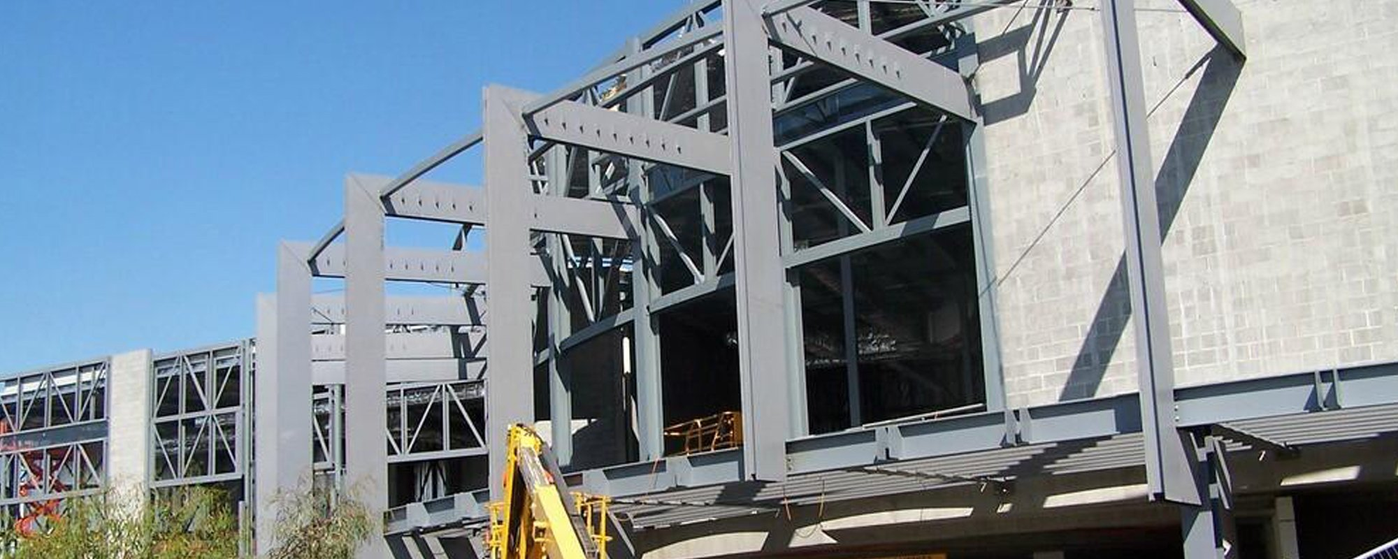 View of a steel structure