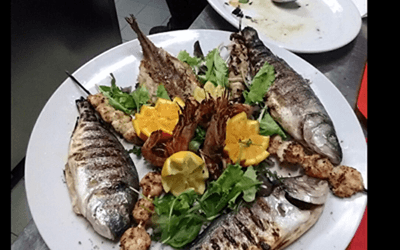 Grigliata di pesce a Bazzano