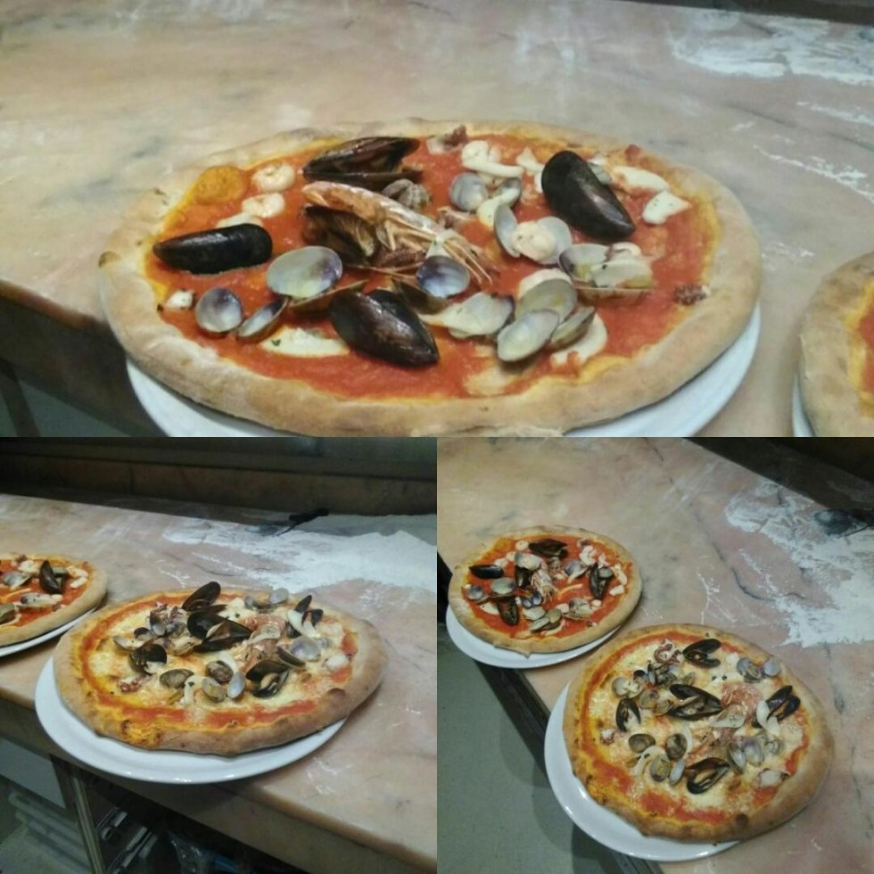 pizza scoglio