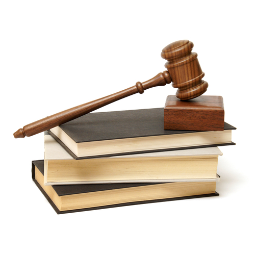 Gavel and books as a symbol of law