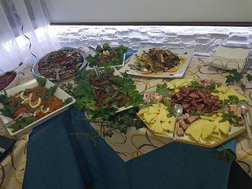 buffet di carne e verdure