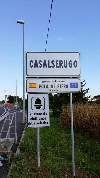 entrata nel paese di Casalserugo