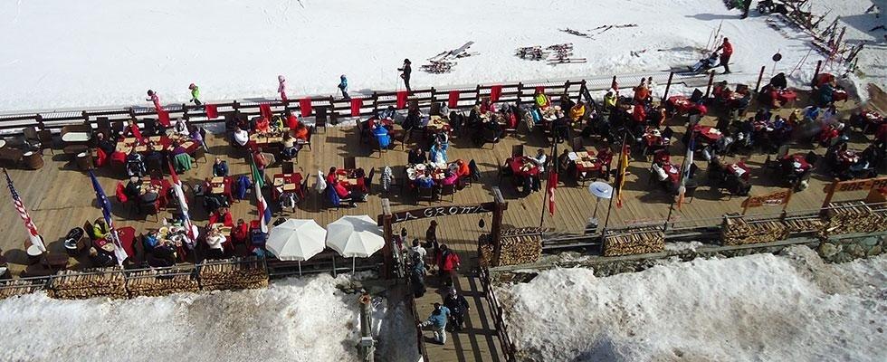 Dehor sulle piste da sci a Cervinia